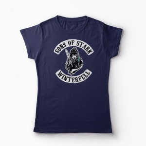 Tricou Game of Thrones - Sons of Stark Winterfell - Femei-Bleumarin