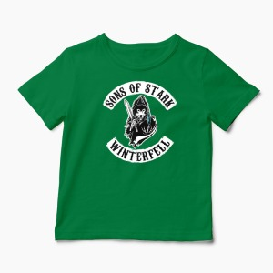 Tricou Game of Thrones - Sons of Stark Winterfell - Copii-Verde