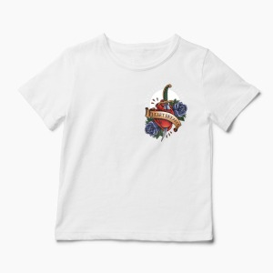 Tricou Heartbreaker Pocket - Copii-Alb