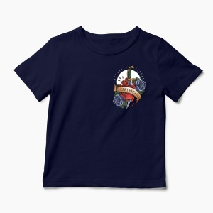 Tricou Heartbreaker Pocket - Copii-Bleumarin