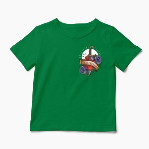 Tricou Heartbreaker Pocket - Copii-Verde