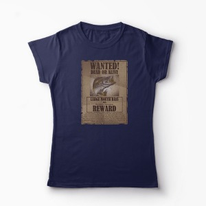 Tricou Pescuit Wanted Dead Or Alive - Femei-Bleumarin