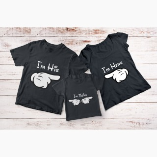 Set Tricou Familie - I'm His - I'm Hers - I'm Theirs