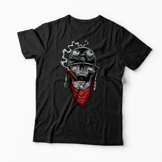 Tricou Army Skull Smoking