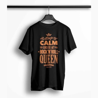 <span>Tricou Barbati Personalizat</span> Keep Calm and Be My Rock N Roll Queen