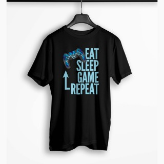 <span>Tricou Barbati Personalizat</span> Eat Sleep Game Repeat