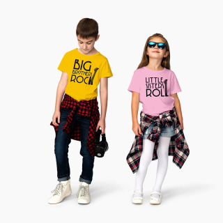Tricou Frati Big Brothers Rock - Little Sisters Roll