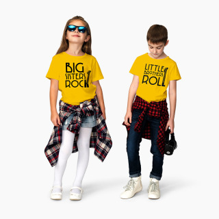 Tricou Frati Big Sisters Rock - Little Brothers Roll