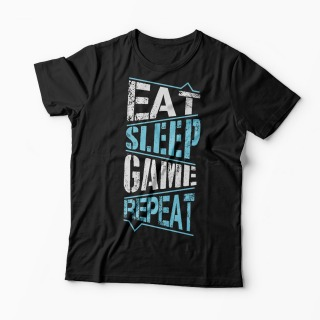 Tricou Gamer - Eat Sleep Game Repeat