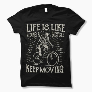 Tricou Life is Like a Bicycle