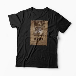 Tricou Pescuit Wanted Dead Or Alive