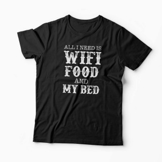 Tricou Wifi Food My Bed