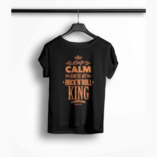 <span>Tricou Femei Personalizat</span> Keep Calm and Be My Rock N Roll King